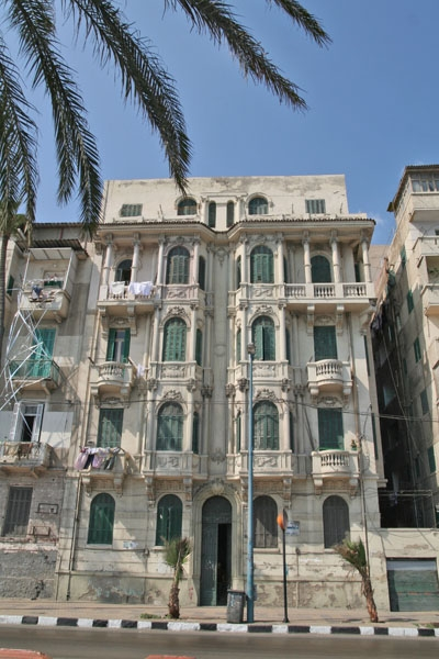 Send picture of Apartment building in Alexandria from Egypt as a free postcard