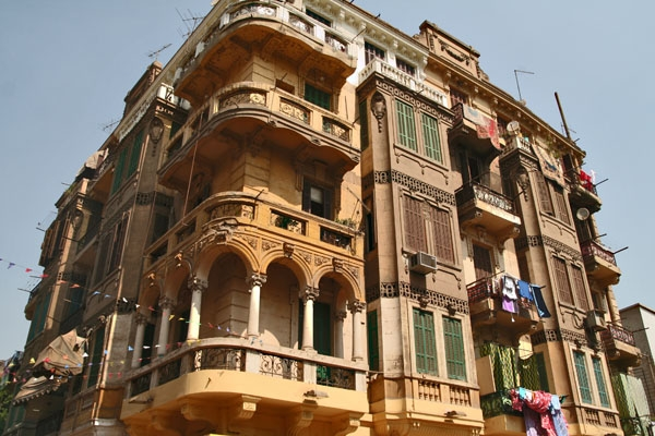 Send picture of Apartment building in Port Said from Egypt as a free postcard