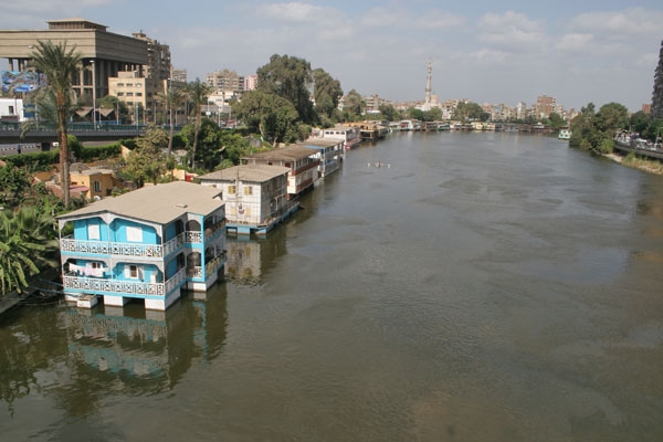 Houseboats on the River Nile