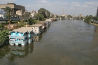 Foto van Houseboats on the River Nile - Egypt