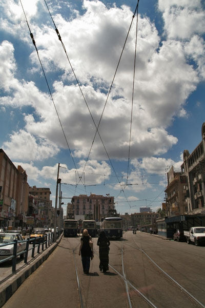Send picture of Tram station in Alexandria from Egypt as a free postcard