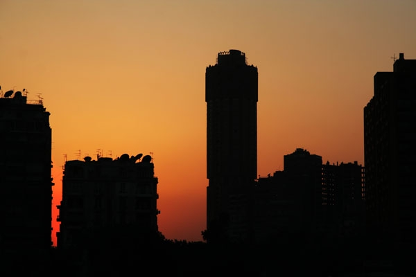 Enviar foto de Sunset over Cairo de Egipto como tarjeta postal eletr&oacute;nica
