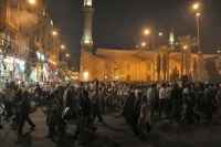 Foto van Streets of Cairo after sunset at Ramadan - Egypt