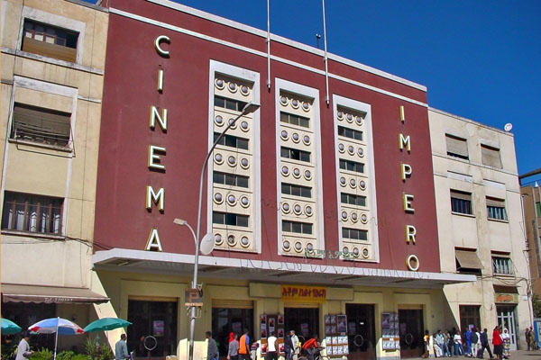 Envoyer photo de Italian designed movie theater in Asmara de Erythre comme carte postale &eacute;lectronique