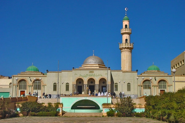 Send picture of The Great Mosque of Asmara from Eritrea as a free postcard