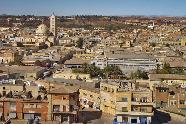 Send picture of View over Asmara from Eritrea as a free postcard