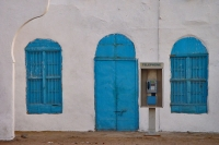 Foto van Blue and white building in Massawa - Eritrea