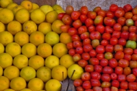 Foto di Fruit and vegetables in an Eritrean stall - Eritrea