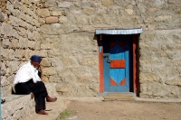 Picture of Eritrean priest in Debre Bizen - Eritrea