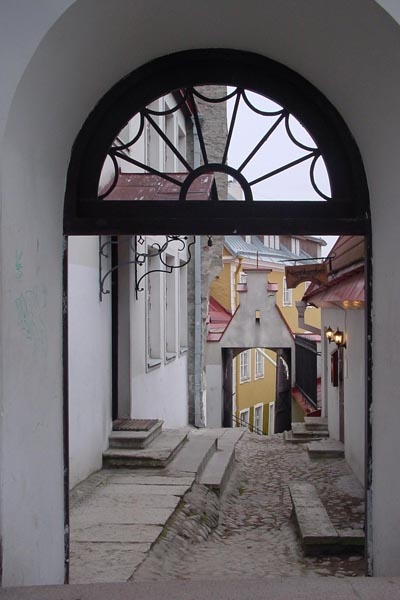 Send picture of Small street in Tallinn from Estonia as a free postcard
