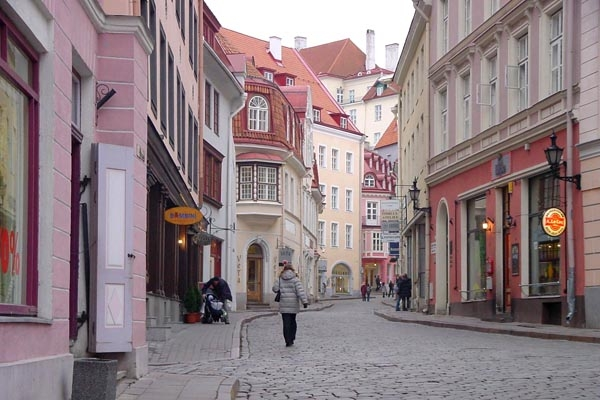 Send picture of Street in Tallinn from Estonia as a free postcard