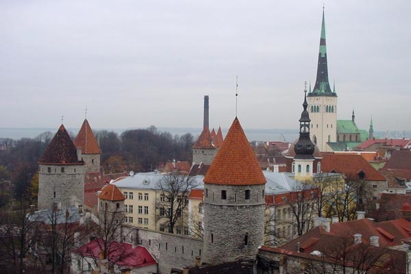 Send picture of View over Old Tallinn from Estonia as a free postcard