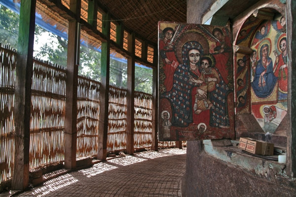 Send picture of Window decoration at a monastery by Lake Tana from Ethiopia as a free postcard
