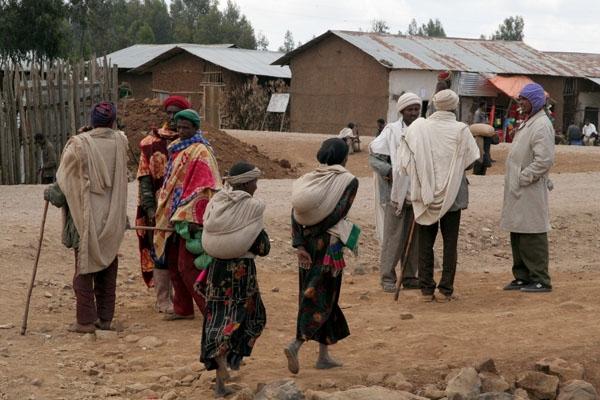Stuur foto van Streetlife in Gashena van Ethiopië als een gratis kaart