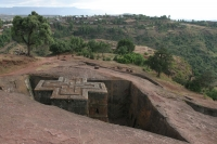 Foto van The Bet Giyorgis rock-hewn church in Lalibela - Ethiopia
