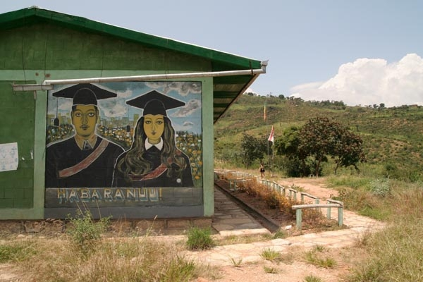 Send picture of School in the mountain village Koremi from Ethiopia as a free postcard