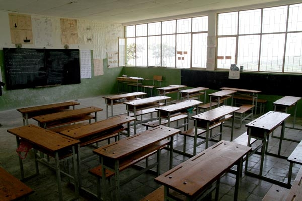 Classrooom of a school in Koremi