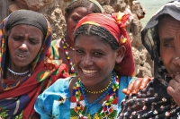 Foto van Women in the small mountain village Koremi - Ethiopia