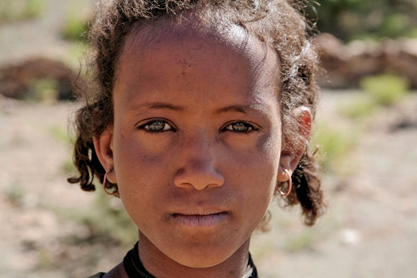 Send picture of Girl from the mountains outside Mekele from Ethiopia as a free postcard