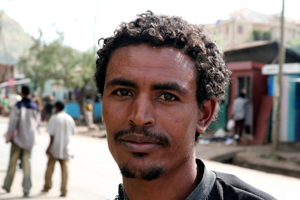 Send picture of Handsome man from Woldia from Ethiopia as a free postcard
