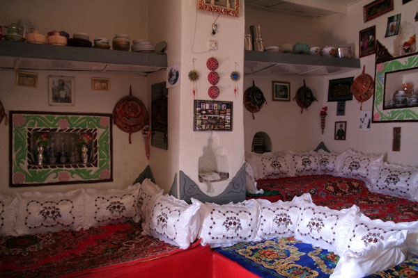 Inside a house in Harar