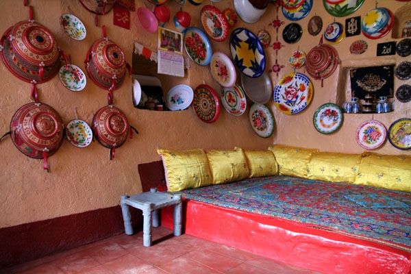 Send picture of Traditional Harar house with kitchenware hanging on the walls from Ethiopia as a free postcard