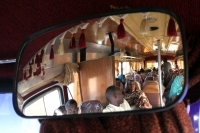 Foto van Ethiopian bus passengers reflected - Ethiopia