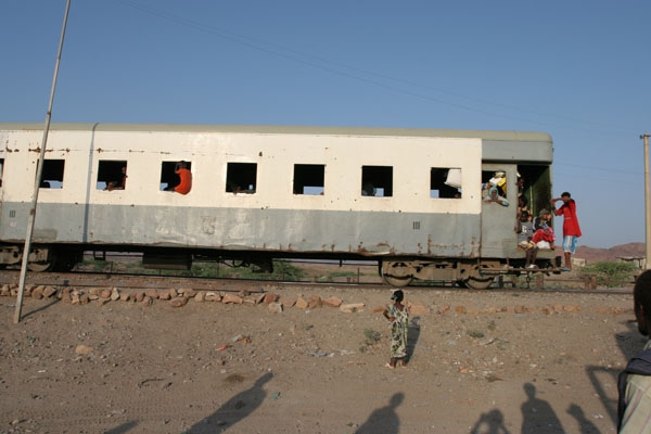 Send picture of A possible, but more unusual way to travel in Ethiopia is by train from Ethiopia as a free postcard