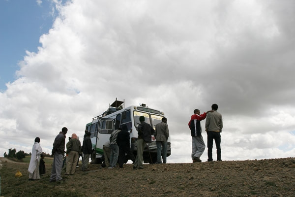 Most Ethiopian buses are old and often break down