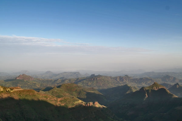 Send picture of View over the Simien mountains from Ethiopia as a free postcard