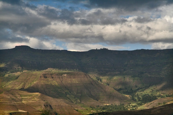 One of the great views of the Simien mountains