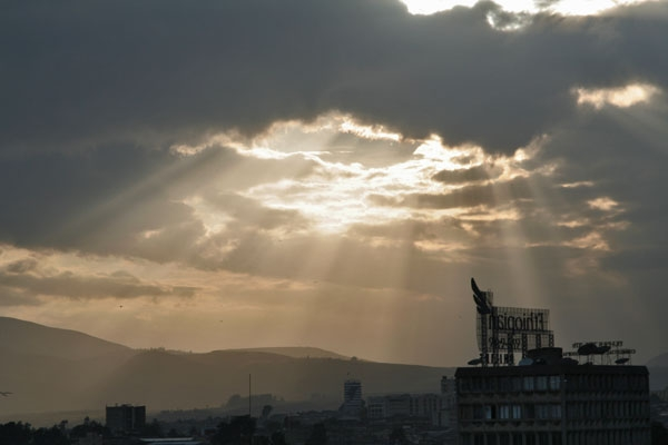 Send picture of Sunset in Addis Abeba from Ethiopia as a free postcard