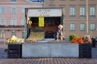 Foto van Vegetable stand in Helsinki - Finland