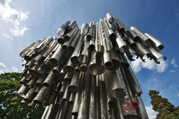 Send picture of Sibelius Monument from Finland as a free postcard