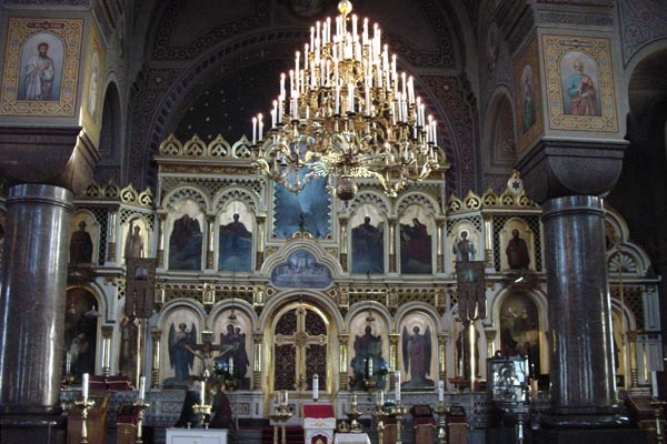 Enviar foto de Interior of Russian orthodox church in Helsinki de Finlandia como tarjeta postal eletr&oacute;nica