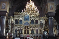 Photo de Interior of Russian orthodox church in Helsinki - Finland