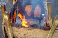 Foto van Fresh fish being roasted - Finland