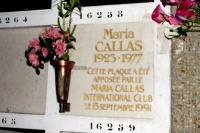 Foto di Grave of Maria Callas at Pere Lachaise cemetery - France