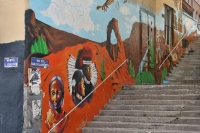 Picture of Stairs and street art in Lyon - France