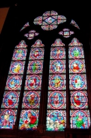 Photo de Colorful church window of the Notre Dame Cathedral in Paris - France