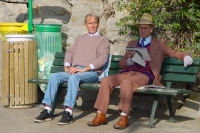 Picture of Men on a bench in Paris - France
