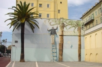 Picture of Painted house facade in Nice - France