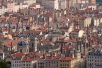 Foto van View over houses in Lyon - France