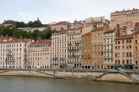 Foto van Lyon waterfront houses - France