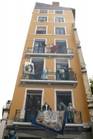 Foto van Painted house facade in Lyon - France