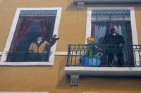 Foto van Wall art on a house facade in Lyon - France