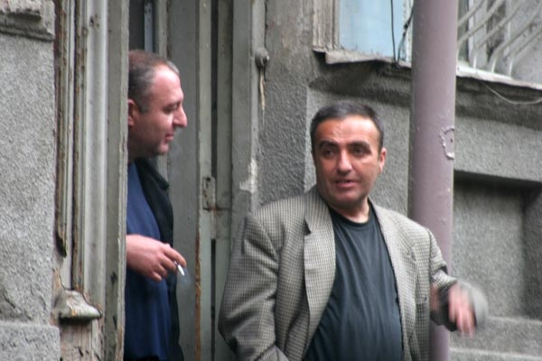  Men chatting in the streets of Tblisi
