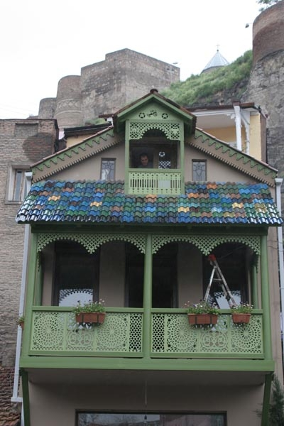 Send picture of Colorful house Tblisi from Georgia as a free postcard