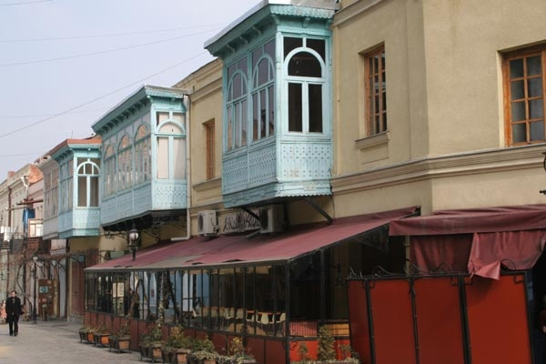 Send picture of Tblisi houses from Georgia as a free postcard