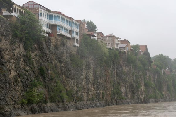 Send picture of Houses at the bank of the Mtkvari River  from Georgia as a free postcard